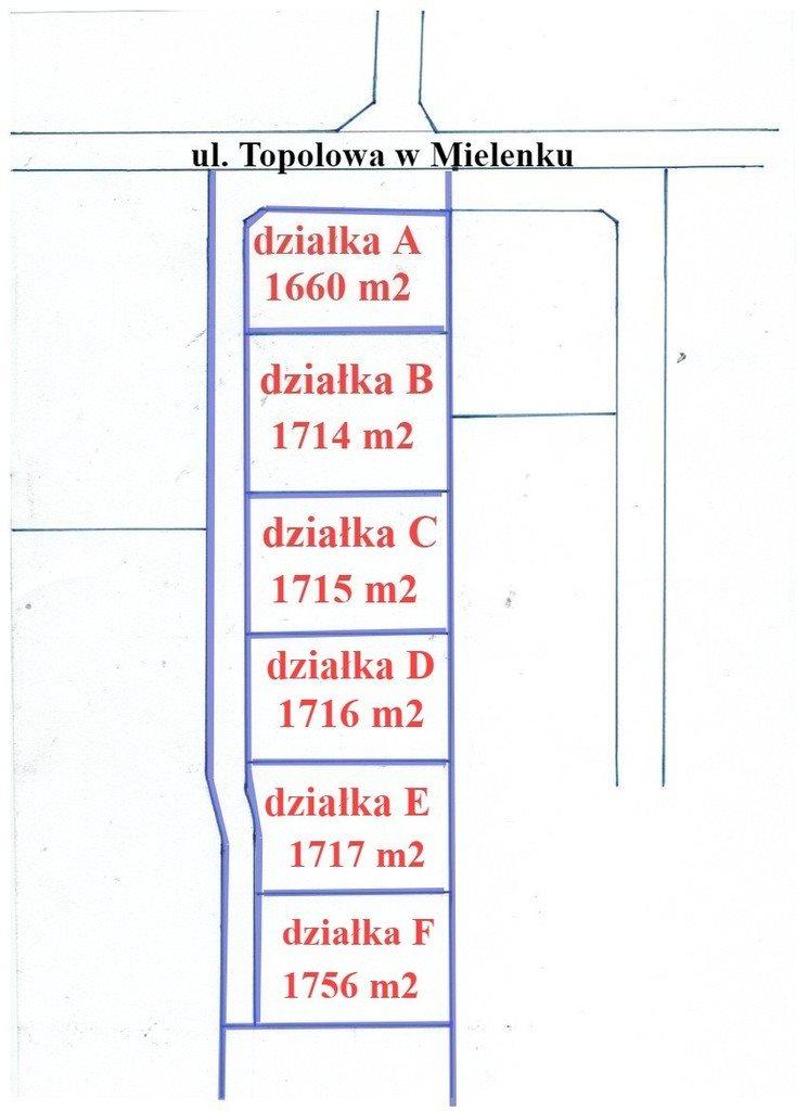 Działka inna na sprzedaż Mielenko  1717m2 Foto 4