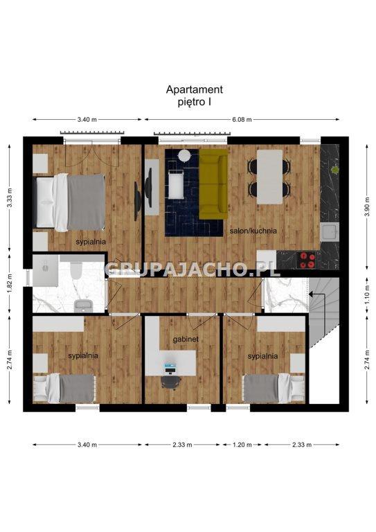 Mieszkanie czteropokojowe  na sprzedaż Mikołów, Mokre, Maków  72m2 Foto 9