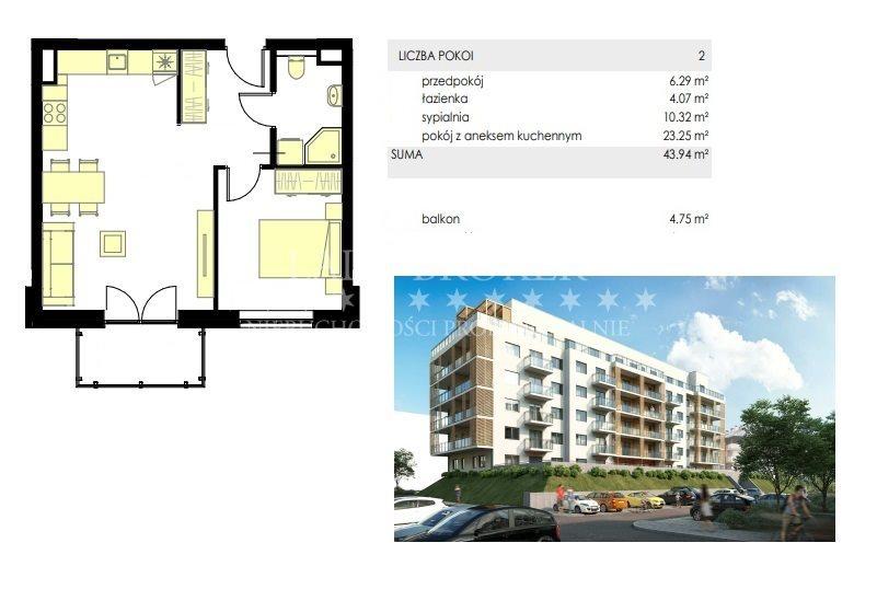 Mieszkanie dwupokojowe na sprzedaż Rzeszów, Drabinianka, Miła  44m2 Foto 6