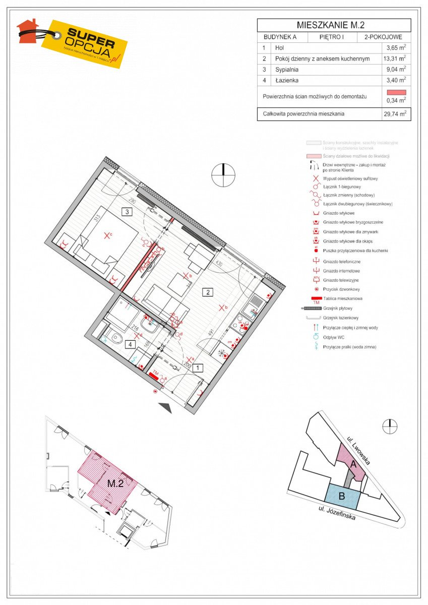 Mieszkanie dwupokojowe na sprzedaż Kraków, Podgórze, Lwowska  30m2 Foto 3