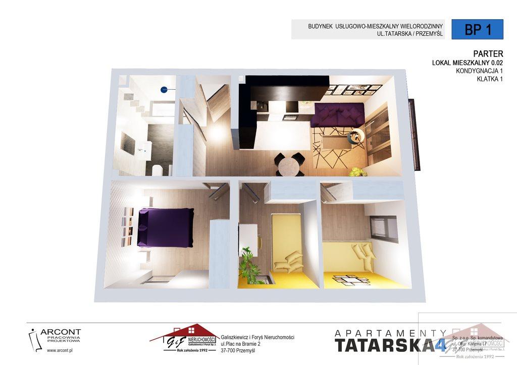 Mieszkanie czteropokojowe  na sprzedaż Przemyśl, Tatarska  57m2 Foto 2