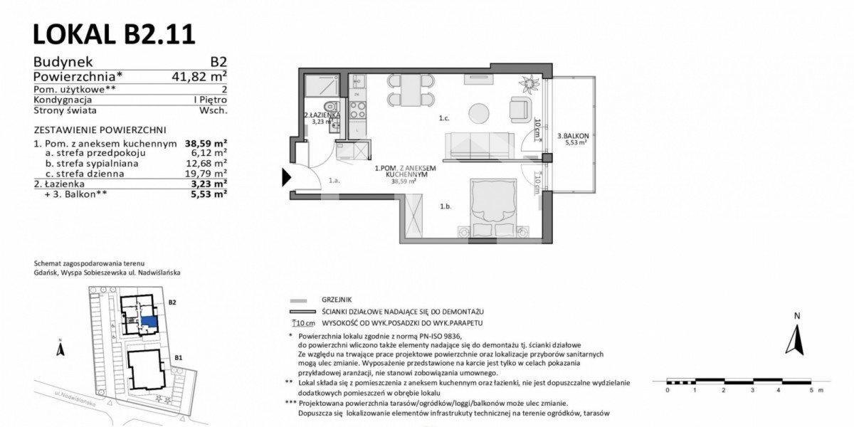 Mieszkanie dwupokojowe na sprzedaż Gdańsk, Sobieszewko, Nadwiślańska  42m2 Foto 2
