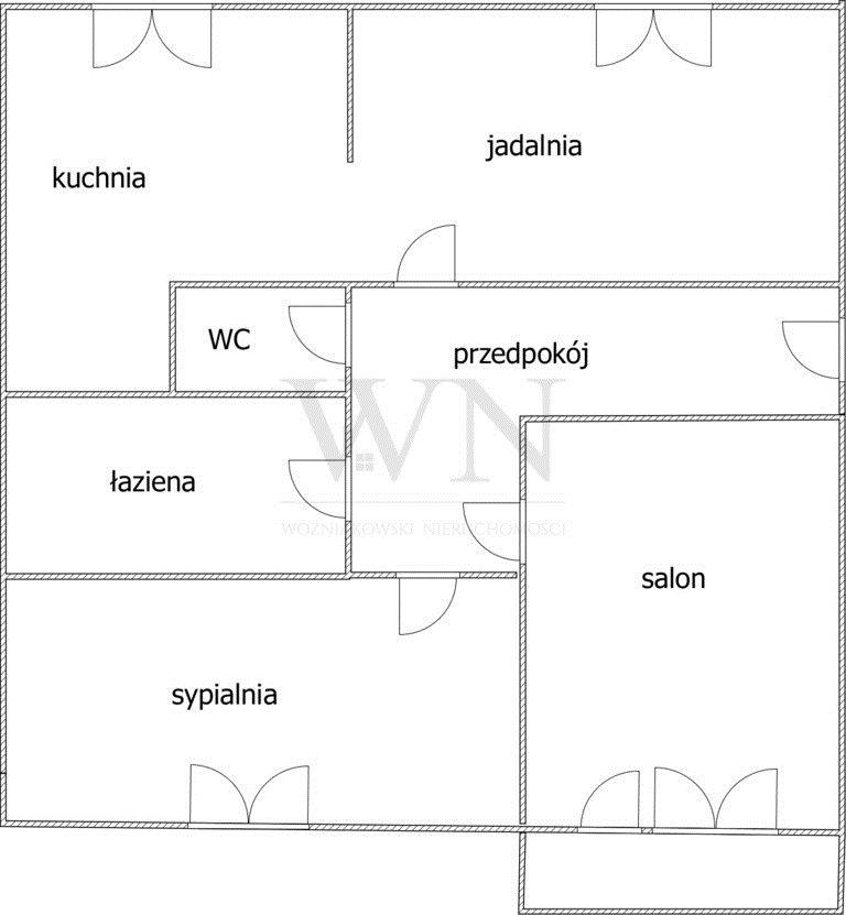 Mieszkanie trzypokojowe na sprzedaż Częstochowa, Śródmieście  55m2 Foto 10