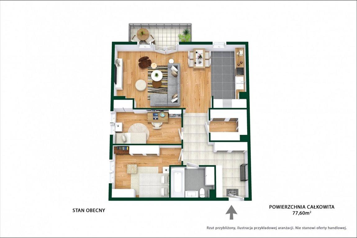 Mieszkanie trzypokojowe na sprzedaż Ząbki, Podleśna  77m2 Foto 10