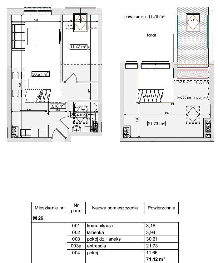 Mieszkanie trzypokojowe na sprzedaż Mierzyn, Mierzyn  71m2 Foto 4