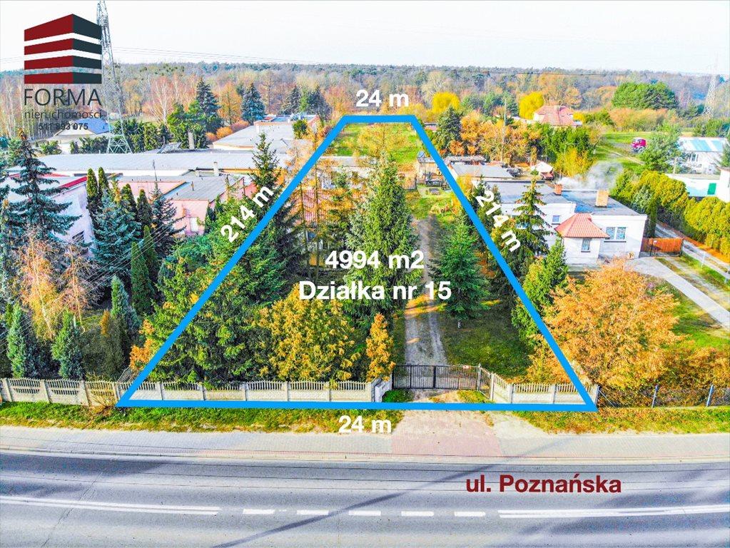 Działka budowlana na sprzedaż Czapury, Poznańska  4994m2 Foto 1