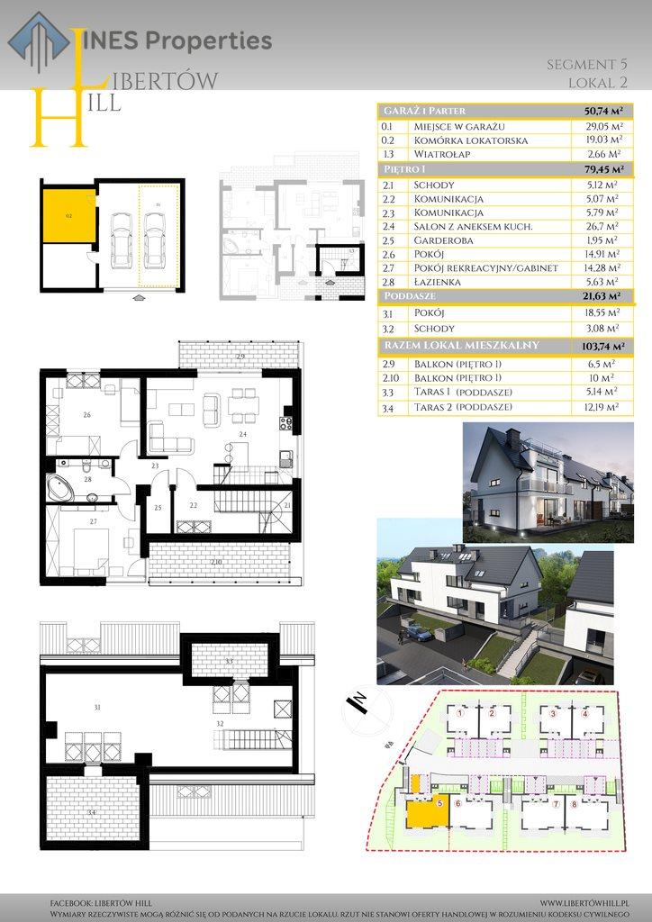 Mieszkanie czteropokojowe  na sprzedaż Libertów, św. Floriana  104m2 Foto 2
