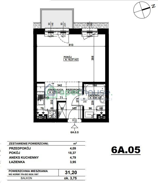 Mieszkanie dwupokojowe na sprzedaż Poznań, Podolany, Podolany, Druskiennicka  31m2 Foto 3