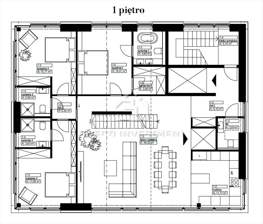 Mieszkanie czteropokojowe  na sprzedaż Kraków, Wola Justowska, Leśna  150m2 Foto 2