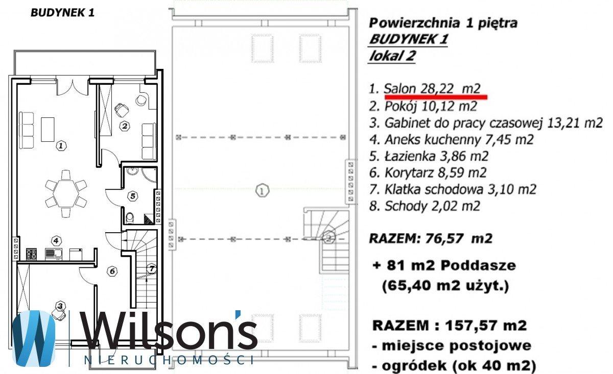 Mieszkanie trzypokojowe na sprzedaż Marki, Dzika  158m2 Foto 4