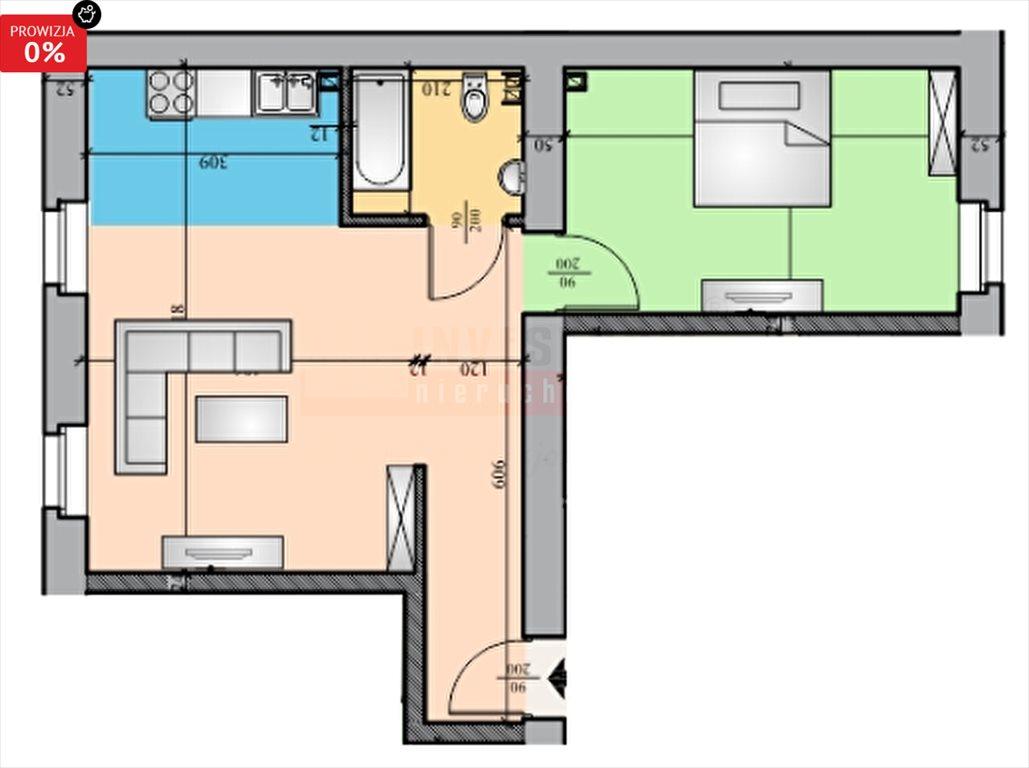Mieszkanie dwupokojowe na sprzedaż Brzeg  50m2 Foto 5