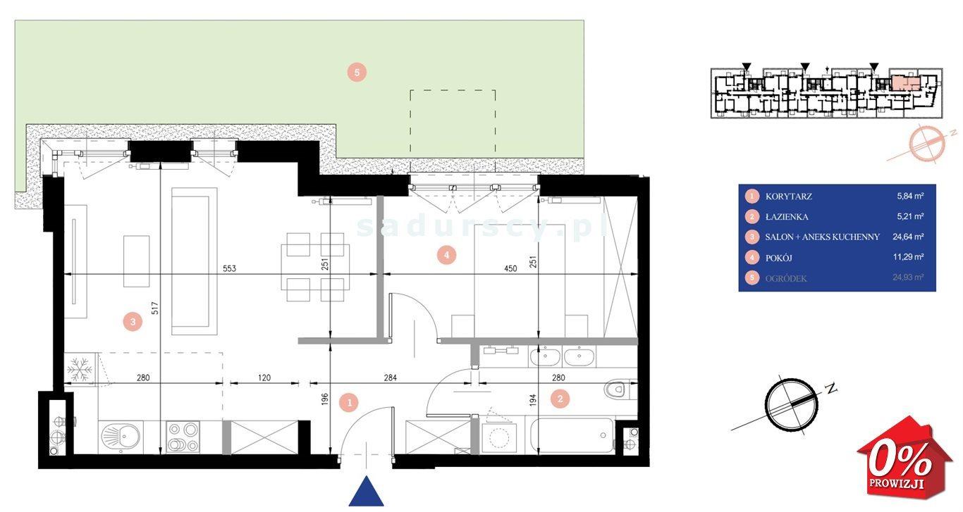 Mieszkanie dwupokojowe na sprzedaż Kraków, Podgórze, Zabłocie, Dekerta - okolice  47m2 Foto 3