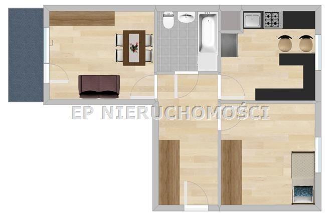 Mieszkanie dwupokojowe na wynajem Częstochowa, Ostatni Grosz  46m2 Foto 8