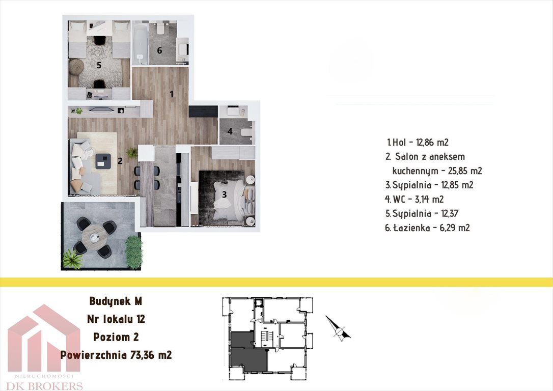 Mieszkanie trzypokojowe na sprzedaż Rzeszów, Staroniwa, Staroniwska  73m2 Foto 2