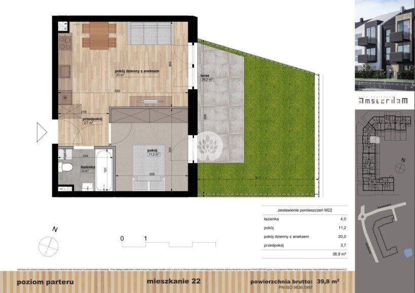 Mieszkanie dwupokojowe na sprzedaż Bydgoszcz, Siedlecka  40m2 Foto 1