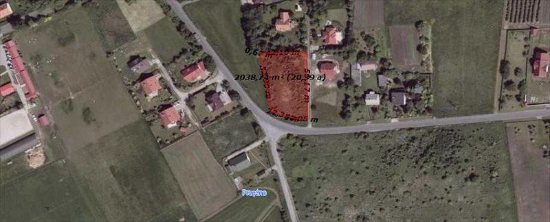 Działka budowlana na sprzedaż Sieborowice, Grabowiec / Sosnowiec  2100m2 Foto 1