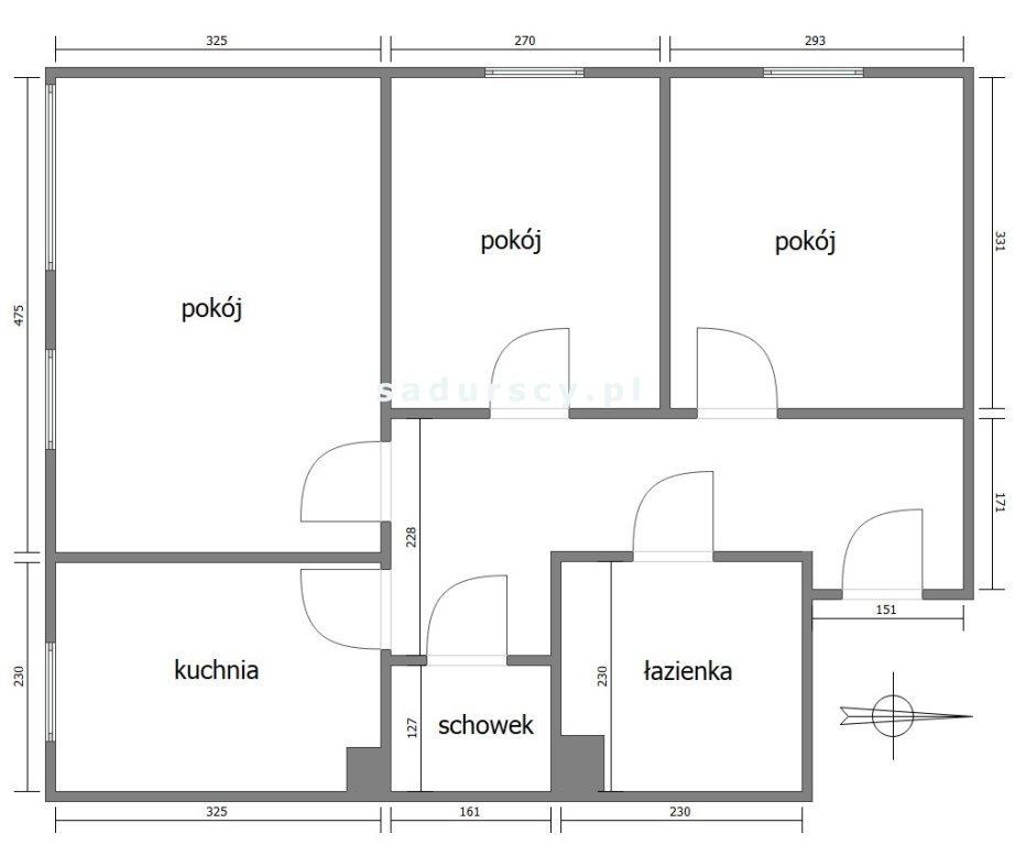 Mieszkanie trzypokojowe na sprzedaż Kraków, Prądnik Czerwony, Prądnik Czerwony, Reduta  59m2 Foto 3