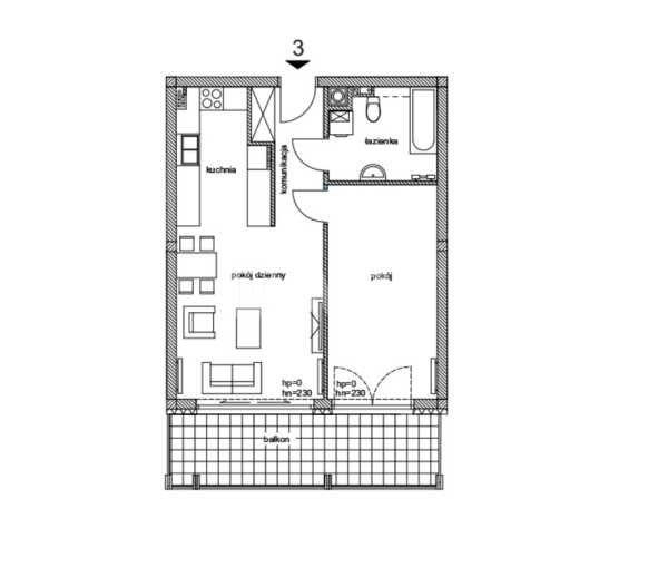 Mieszkanie trzypokojowe na sprzedaż Częstochowa, Parkitka, Grabówka, Bialska  50m2 Foto 4