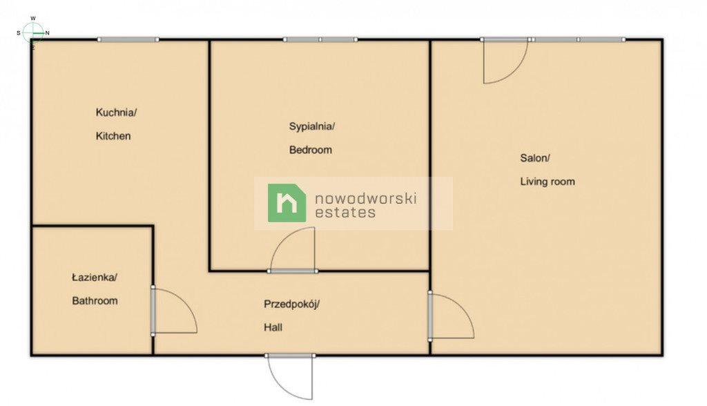 Mieszkanie dwupokojowe na wynajem Gdańsk, Zaspa, Startowa  48m2 Foto 11