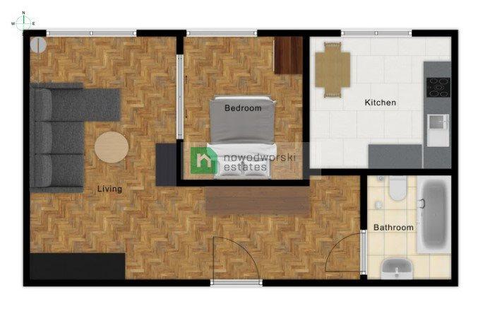 Mieszkanie dwupokojowe na wynajem Gliwice, Trynek  39m2 Foto 8