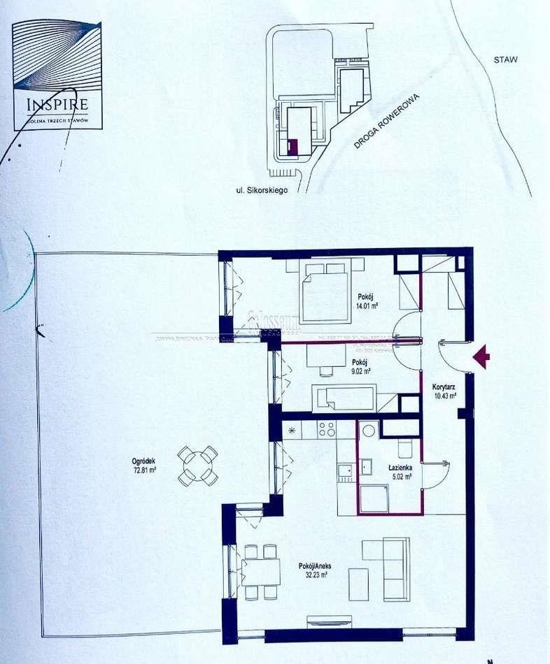 Mieszkanie trzypokojowe na sprzedaż Katowice, Dolina Trzech Stawów, Sikorskiego  70m2 Foto 3