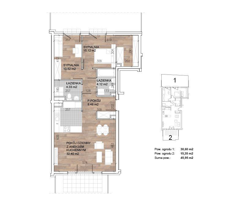 Mieszkanie trzypokojowe na sprzedaż Sobótka  75m2 Foto 3