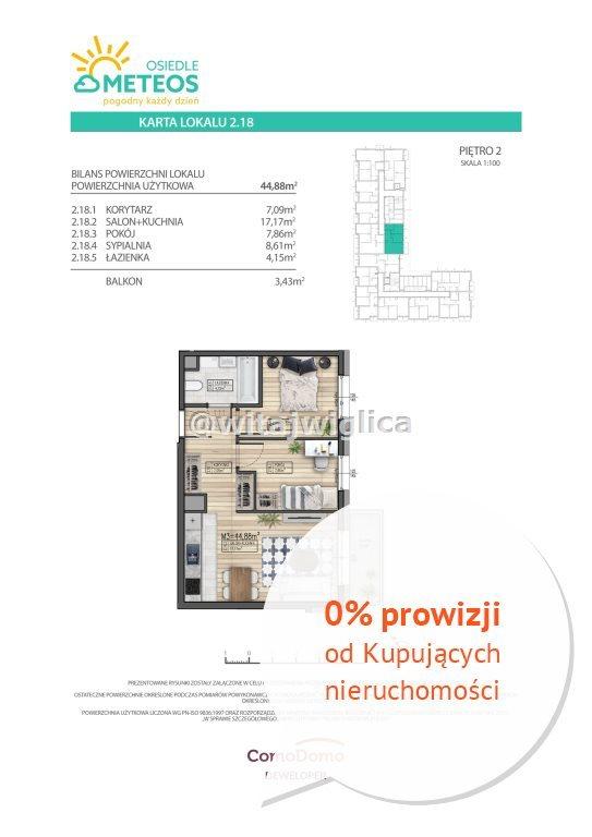 Mieszkanie trzypokojowe na sprzedaż Wrocław, Psie Pole, Sołtysowice, Poprzeczna  45m2 Foto 7