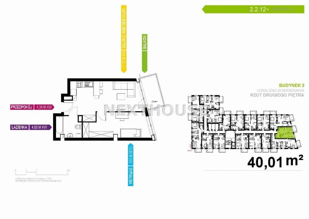 Mieszkanie dwupokojowe na sprzedaż Gliwice, Stare Gliwice  40m2 Foto 2