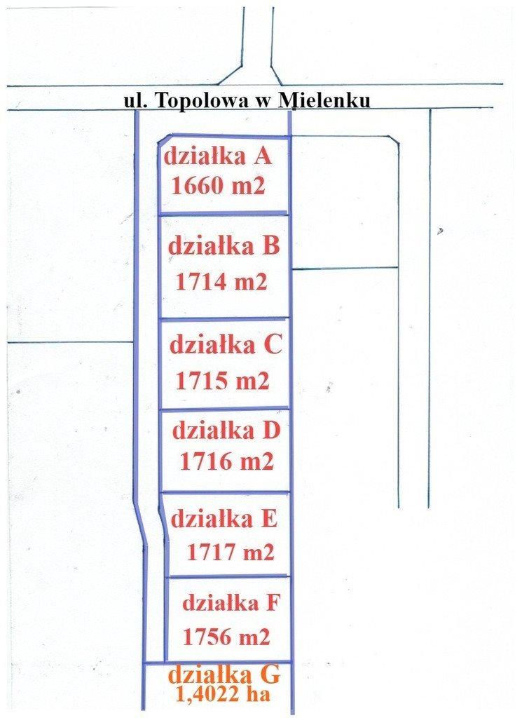 Działka inna na sprzedaż Mielenko  1715m2 Foto 4
