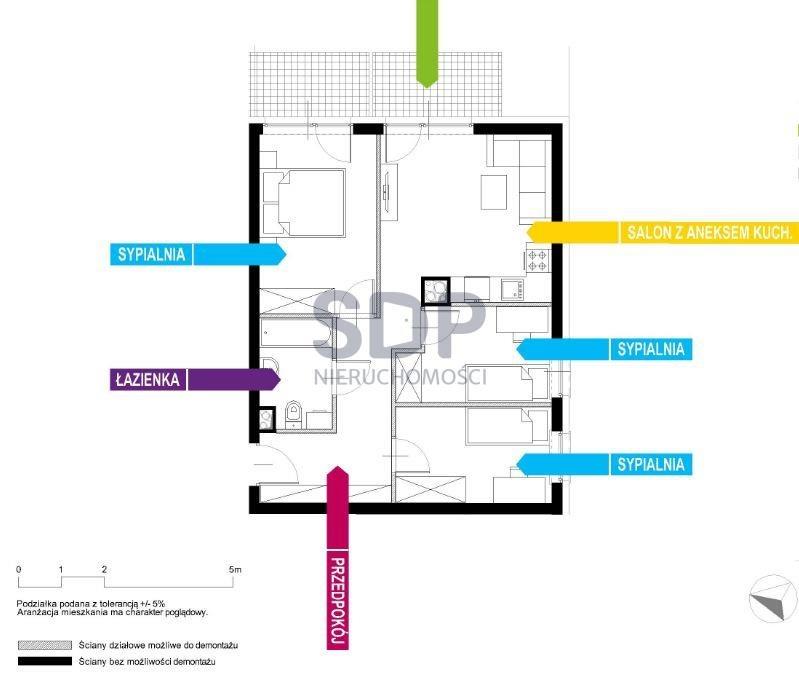 Mieszkanie czteropokojowe  na sprzedaż Wrocław, Krzyki, Wojszyce, Buforowa  57m2 Foto 2