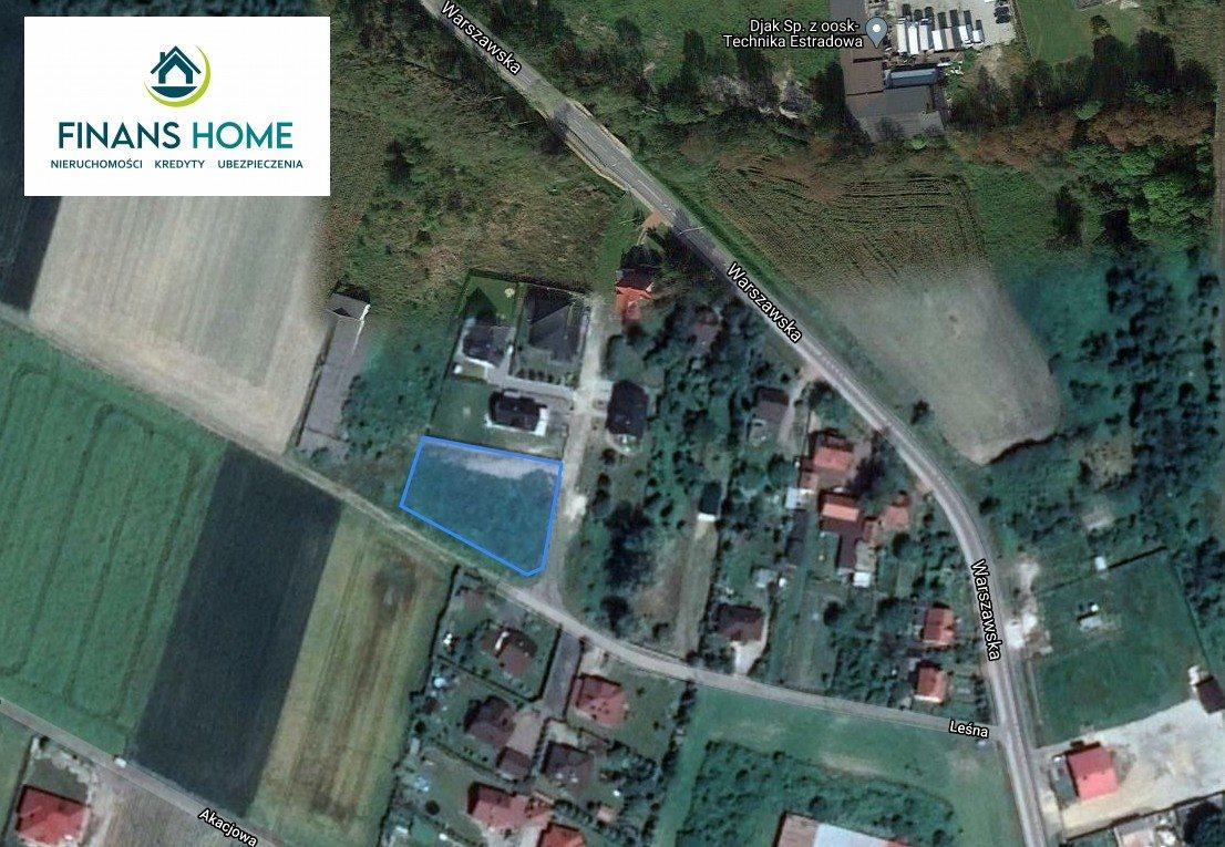 Działka budowlana na sprzedaż Grodków, Półwiosek, Leśna  1626m2 Foto 2