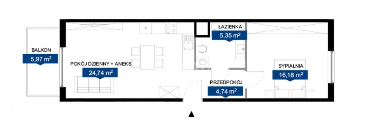 Mieszkanie dwupokojowe na sprzedaż Poznań, Naramowice  51m2 Foto 2