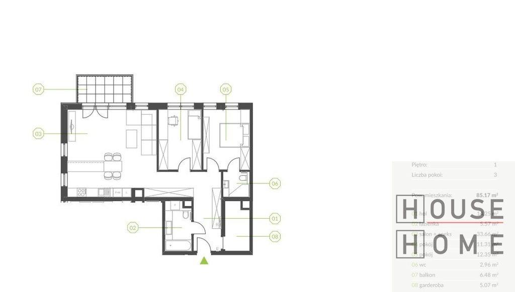 Mieszkanie trzypokojowe na sprzedaż Katowice, Piotrowice  85m2 Foto 2