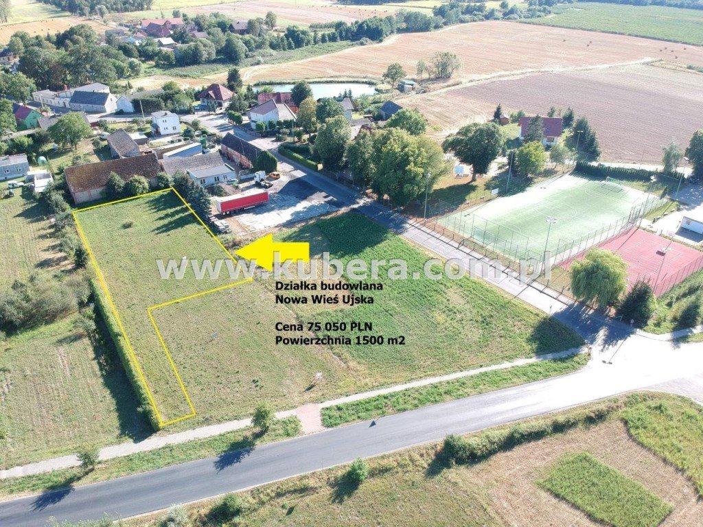 Działka budowlana na sprzedaż Nowa Wieś Ujska  1501m2 Foto 1