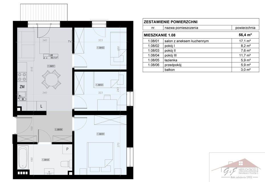 Mieszkanie czteropokojowe  na sprzedaż Przemyśl, Tatarska  56m2 Foto 6
