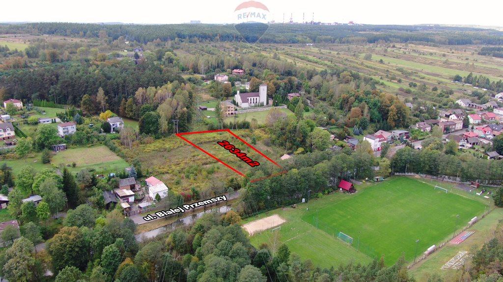 Działka budowlana na sprzedaż Dąbrowa Górnicza, Okradzionów, Białej Przemszy  2634m2 Foto 12
