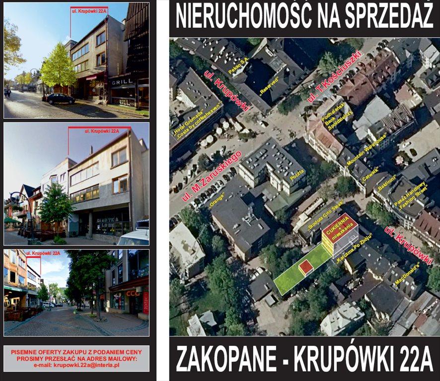 Działka komercyjna na sprzedaż Zakopane, centrum, krupówki 22a  519m2 Foto 2