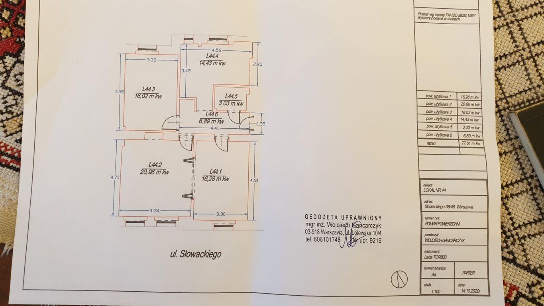 Mieszkanie trzypokojowe na sprzedaż Warszawa, Śródmieście, Słowackiego  78m2 Foto 11
