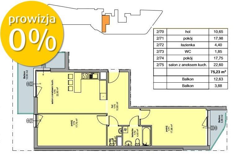 Mieszkanie trzypokojowe na sprzedaż Kraków, Prądnik Czerwony, Prądnik Czerwony, Promienistych  75m2 Foto 4