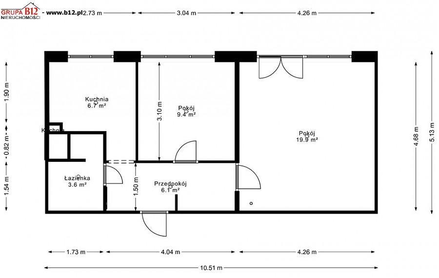 Mieszkanie dwupokojowe na sprzedaż Krakow, Nowa Huta (osiedla), Os Piastów  46m2 Foto 1