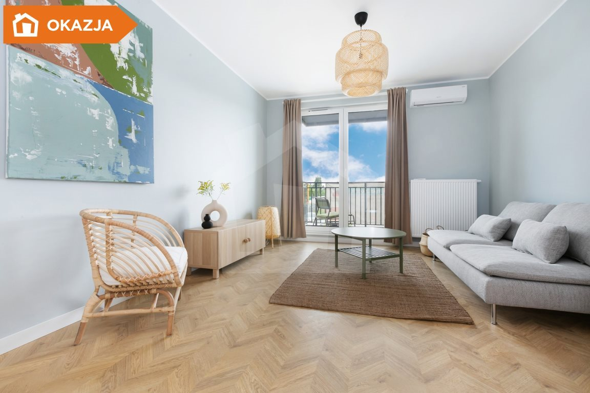 Mieszkanie trzypokojowe na sprzedaż Niemcz  59m2 Foto 5