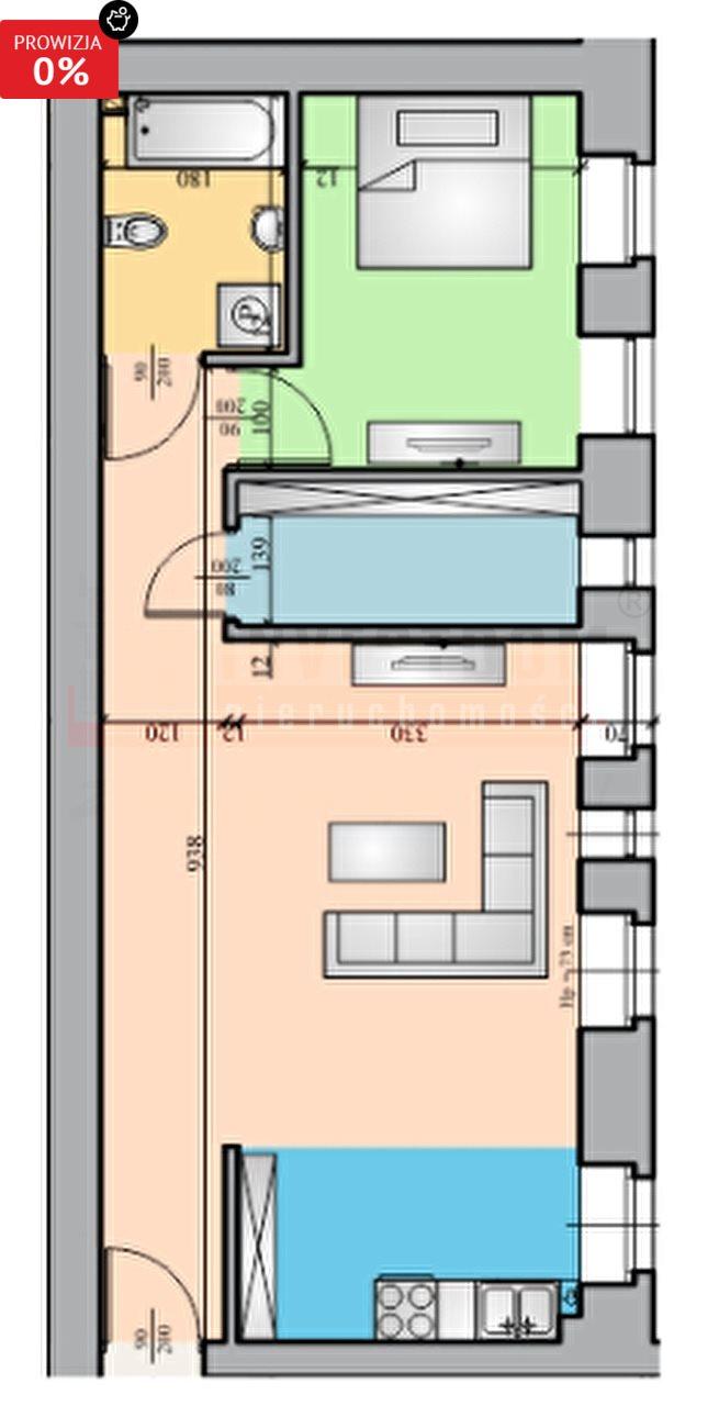 Mieszkanie dwupokojowe na sprzedaż Brzeg  52m2 Foto 5