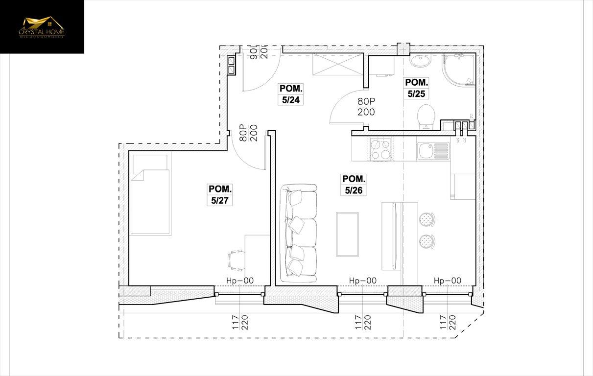 Mieszkanie dwupokojowe na sprzedaż Świdnica  37m2 Foto 4