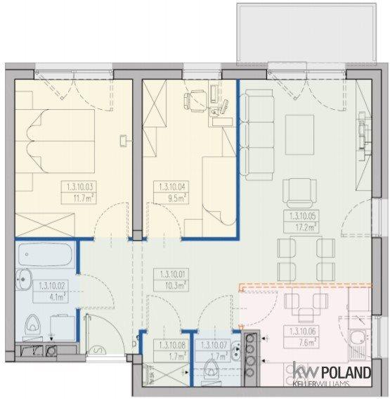 Mieszkanie trzypokojowe na sprzedaż Wrocław, Stabłowice, Stabłowicka  64m2 Foto 2
