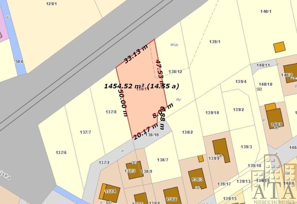 Działka przemysłowo-handlowa na sprzedaż Długołęka  1449m2 Foto 1