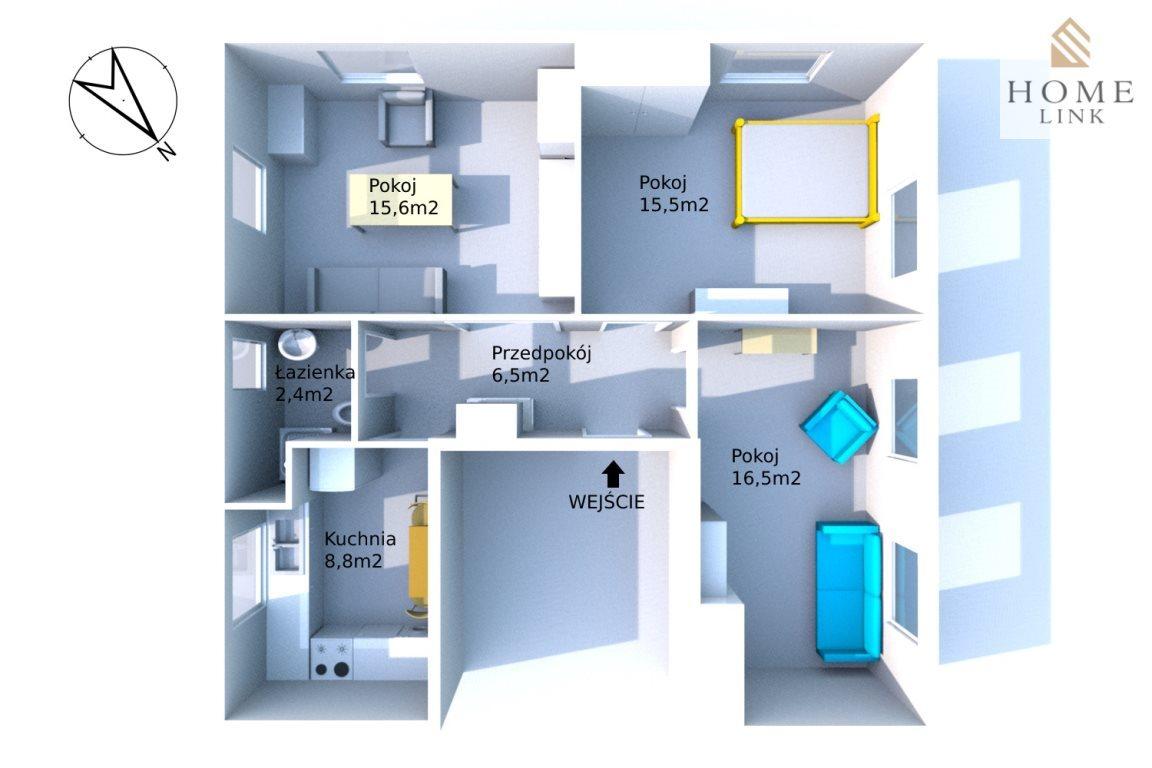 Mieszkanie trzypokojowe na sprzedaż Olsztyn, Pojezierze, Westerplatte  79m2 Foto 5