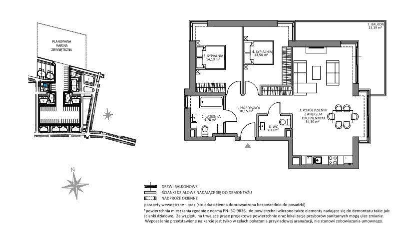Mieszkanie czteropokojowe  na sprzedaż Gdańsk, Sobieszewo, Łąkowa  82m2 Foto 3