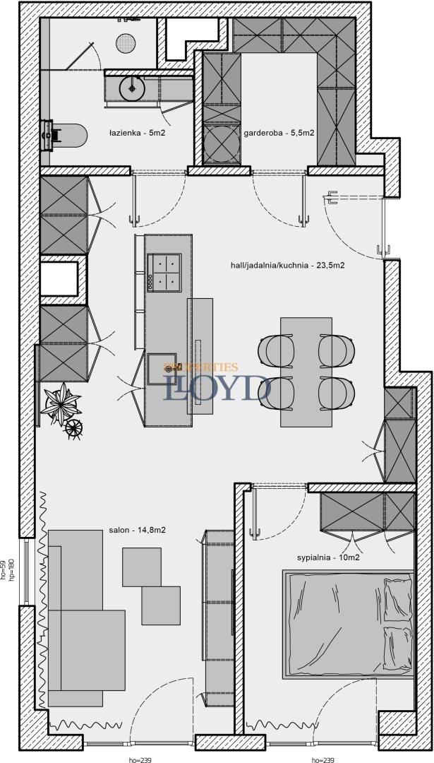 Mieszkanie dwupokojowe na sprzedaż Warszawa, Mokotów, Cieszyńska  58m2 Foto 11