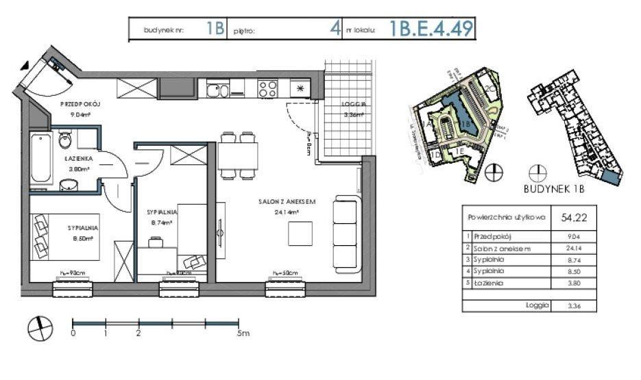 Mieszkanie trzypokojowe na sprzedaż Gdańsk, Letnica  54m2 Foto 3