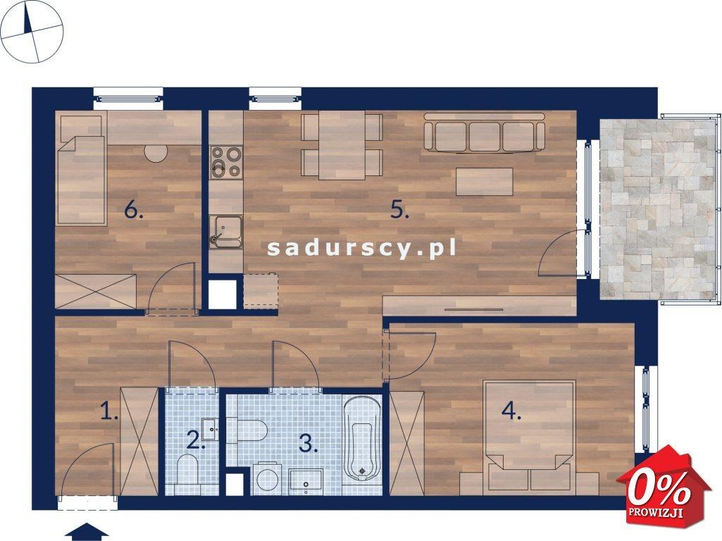 Mieszkanie trzypokojowe na sprzedaż Kraków, Podgórze, Płaszów, Saska -  okolice  59m2 Foto 4